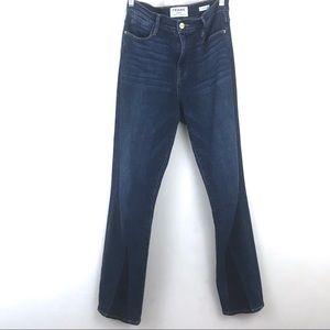 FRAME Le High Straight Leg Jeans Hem Design